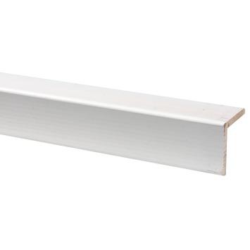 Hoeklat grenen wit gegrond 44x44 mm 270 cm