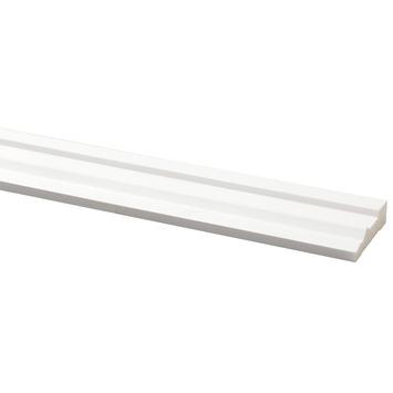 Deurlijst grenen wit gegrond 15x57 mm 270 cm