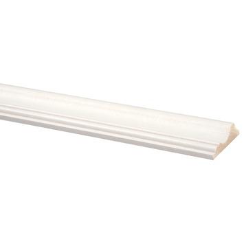 Decorlijst grenen wit gegrond 18x68 mm 270 cm