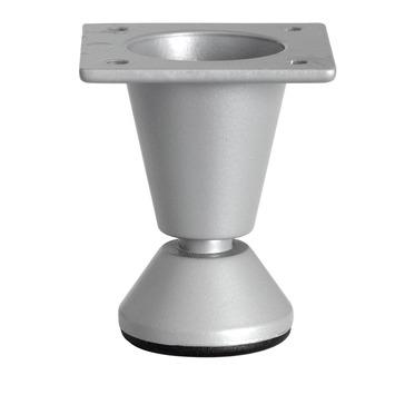 Inspirations meubelpoot rond met voet zilvergrijs 50 mm