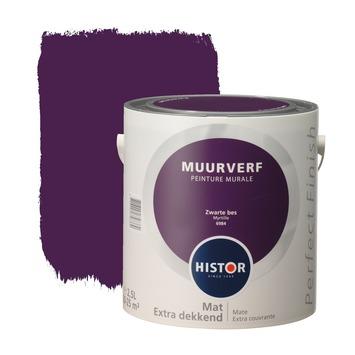 Histor Perfect Finish muurverf zwarte bes mat 2,5 liter