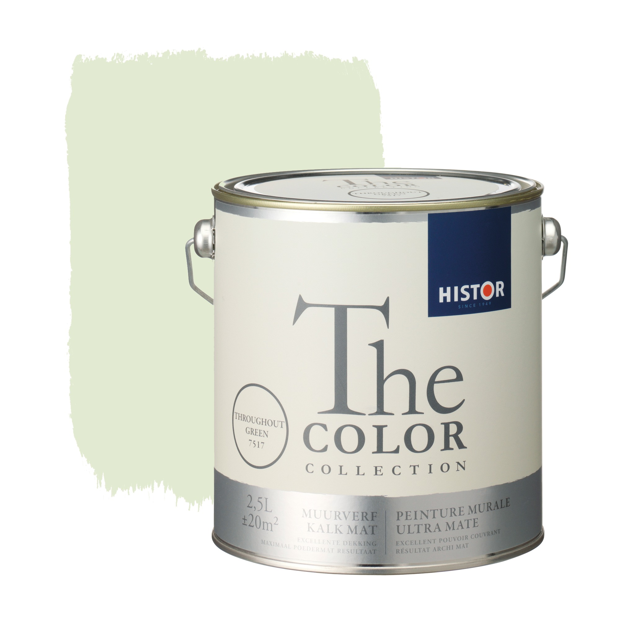 Histor the color collection muurverf kalkmat throughout green 7517 2,5 l