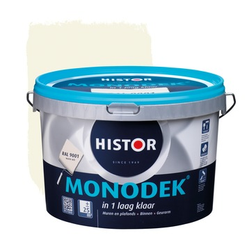 Histor Monodek latex RAL 9001 crème wit 2,5 liter