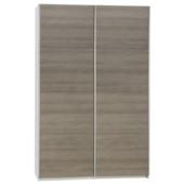 Alpha zweefdeurkast gelamineerd spaanplaat grijs eiken 206x150x63 cm