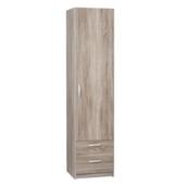 Kim garderobekast 1-deurs gelamineerd spaanplaat truffel eiken 201x50x50 cm