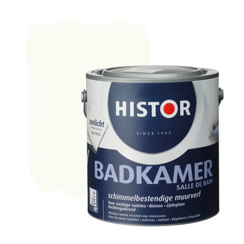 GAMMA | Histor muurverf badkamer RAL 9010 gebroken wit 2,5 liter ...
