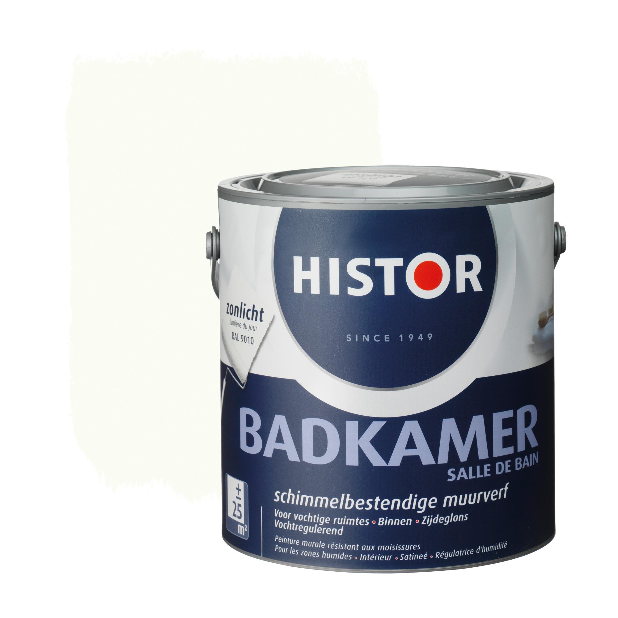 histor muurverf badkamer ral 9010 gebroken wit 2,5 liter, Badkamer