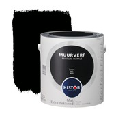 Histor Perfect Finish muurverf zwart mat 2,5 liter