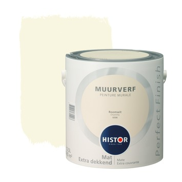 Histor Perfect Finish muurverf roomwit mat 2,5 liter