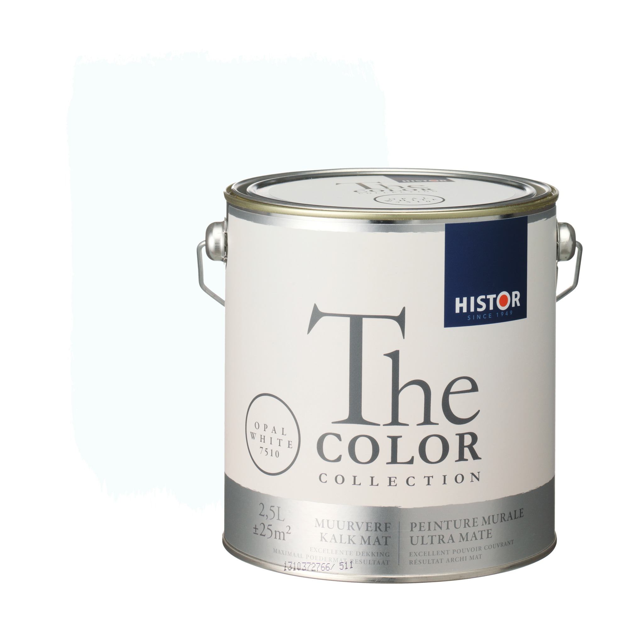 Histor the color collection muurverf kalkmat opal white 7510 2,5 l