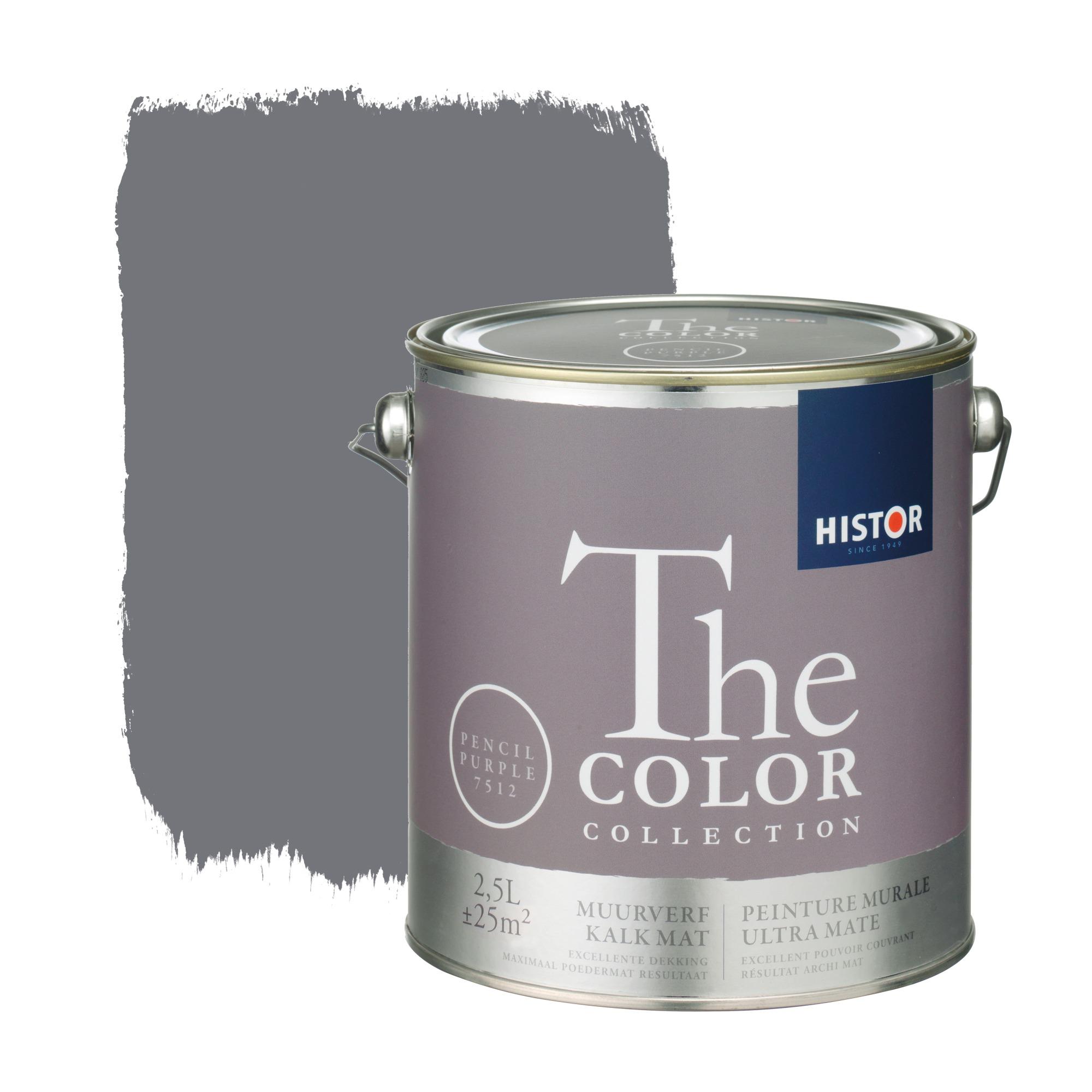 Histor the color collection muurverf kalkmat pencil purple 7512 2,5 l