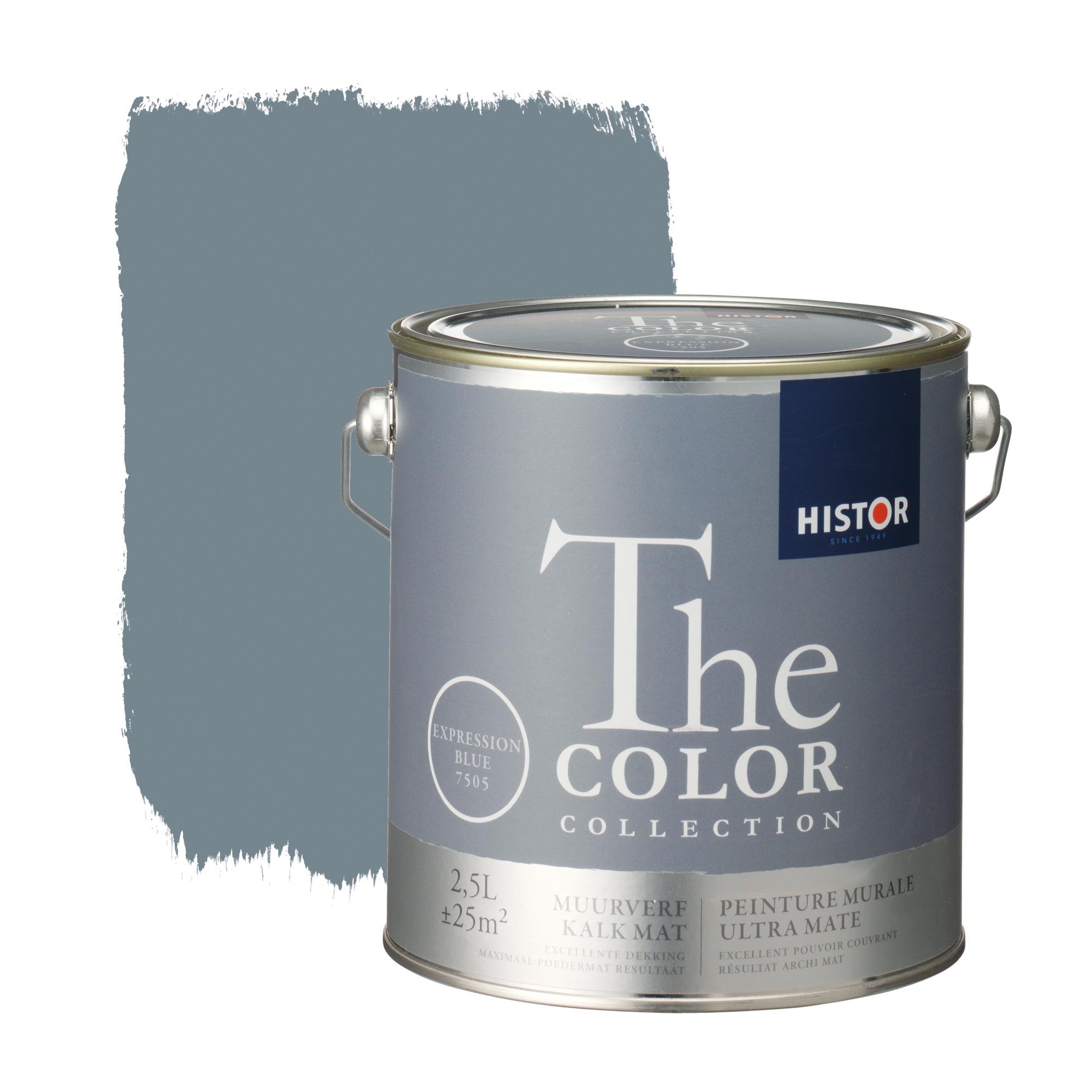 Histor the color collection muurverf kalkmat expression blue 7505 2,5 l