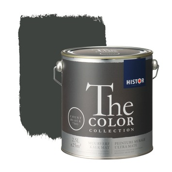 Histor The Color Collection muurverf count black 2,5 liter