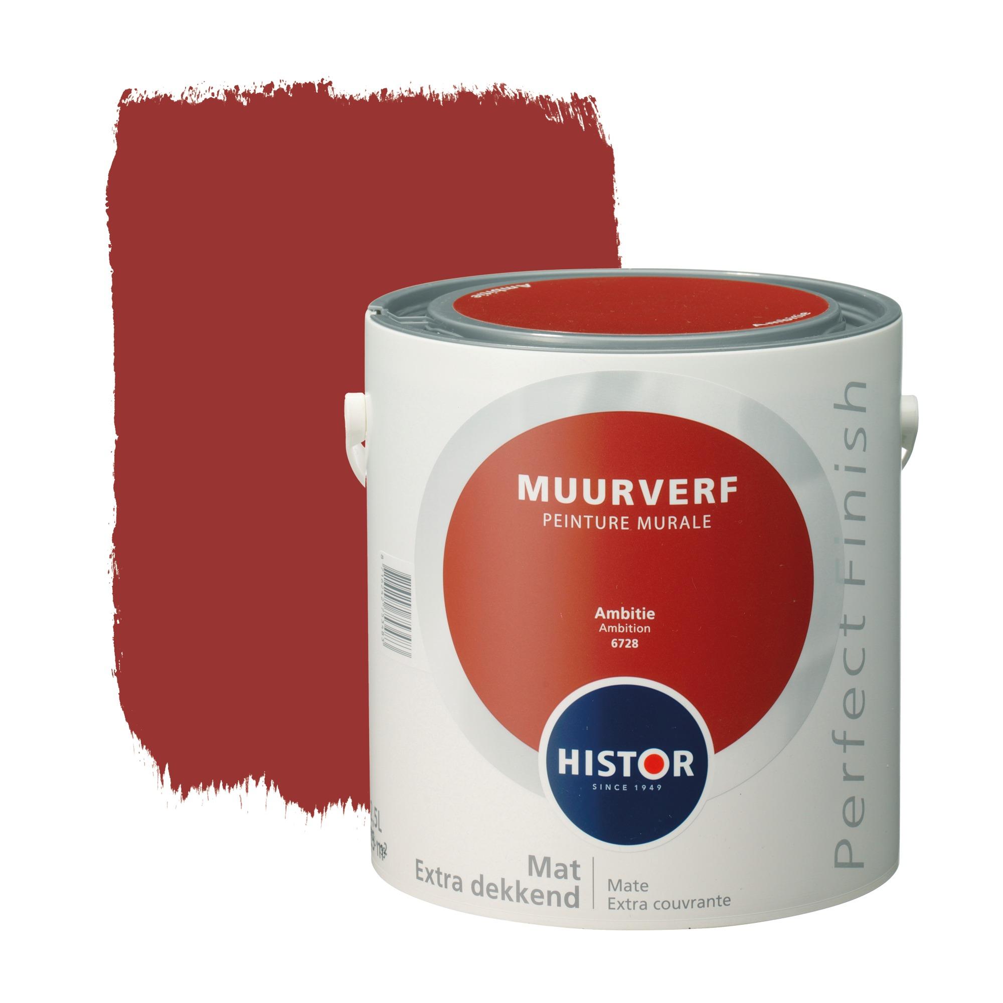 Histor perfect finish muurverf mat ambitie 6728 2,5 l