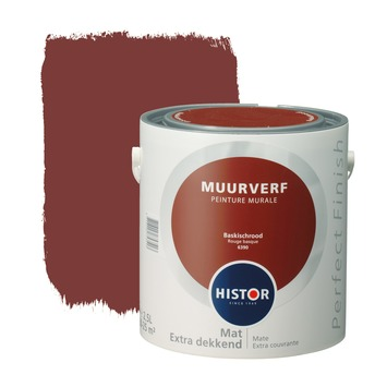 Histor Perfect Finish muurverf baskisch rood mat 2,5 liter