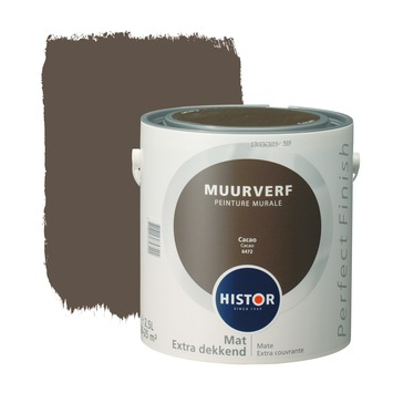 Histor Perfect Finish muurverf cacao mat 2,5 liter