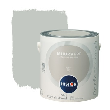 Histor Perfect Finish muurverf cyber mat 2,5 liter