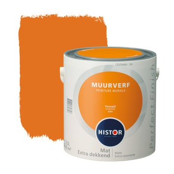 Histor Perfect Finish muurverf vuurpijl mat 2,5 liter