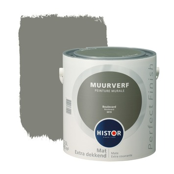 Histor Perfect Finish muurverf boulevard mat 2,5 liter