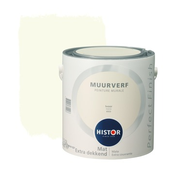 Histor Perfect Finish muurverf ivoor mat 2,5 liter