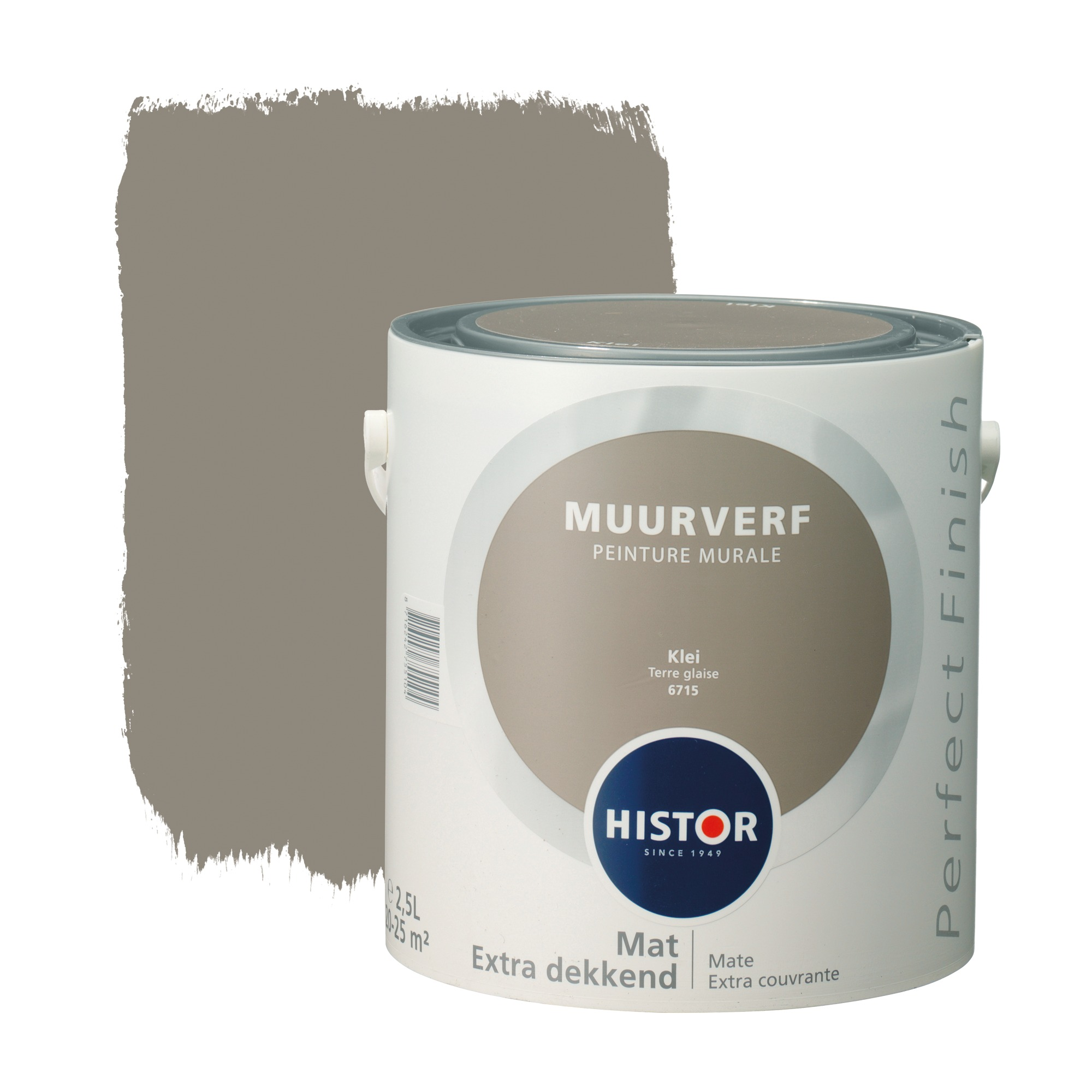 Histor perfect finish muurverf mat klei 6715 2,5 l