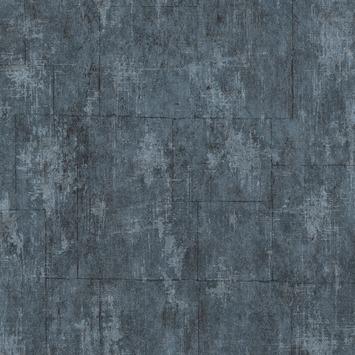 Vliesbehang Betonblokken blauw 101667