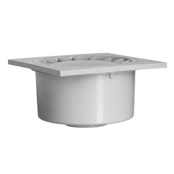Vloerput PVC grijs 15x15 cm onderuitlaat Ø 40/50 mm