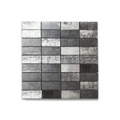 Mozaïektegel Vulcano zwart 30x30 cm 1 stuk