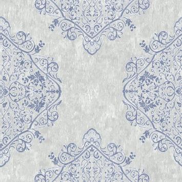 Vliesbehang Marrakech grijs-blauw 100036