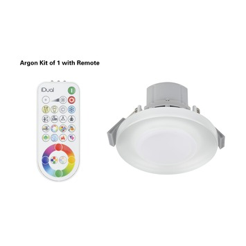 iDual inbouwspot Argon 1 stuk 345 lumen incl. afstandbediening RGB