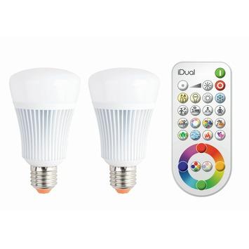 GroBartig IDual 2 X E27 LED Lampen 806 Lumen RGB