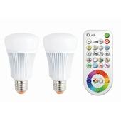 iDual 2 x E27 LED lampen 806 lumen RGB