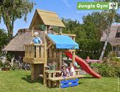 Jungle Gym Cubby inclusief lange glijbaan met wateraansluiting en picknicktafel
