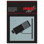 Pickup Alu deurbordje camera bewaking 80 x 80 mm