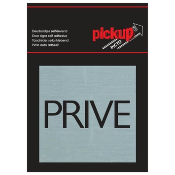 Pickup Alu Picto privé 8x8 cm