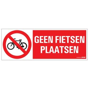 Pickup bord verboden fietsen te plaatsen 33x12 cm