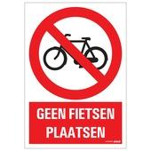 Pickup bord geen fietsen plaatsen 23x33 cm