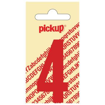 Pickup plakcijfer 4 zwart 120 mm