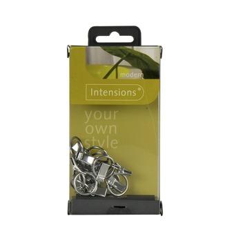 Intensions draadspangarnituur ring en klem chroom 12 stuks