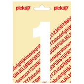 Pickup plakcijfer 1 wit mat 120 mm