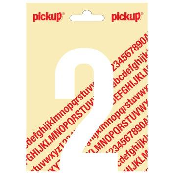 Pickup plakcijfer 2 wit mat 120 mm