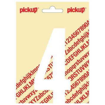 Pickup plakcijfer 4 wit mat 120 mm