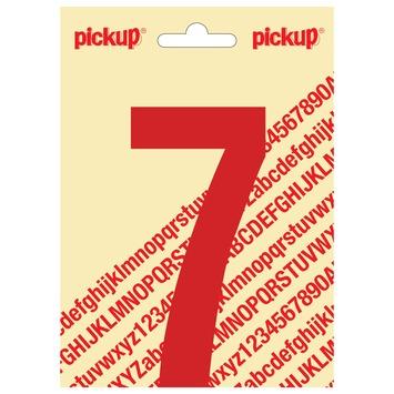 Pickup plakcijfer 7 rood glans 120 mm