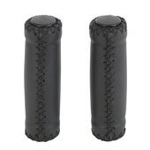 Handvat leatherlook zwart 2 stuks