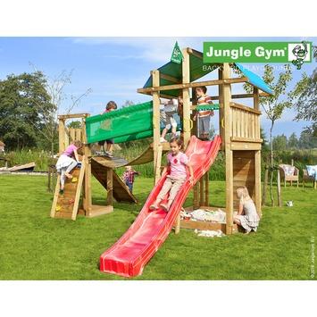 Jungle Gym Fort Speeltoestel met Glijbaan en Loopbrug