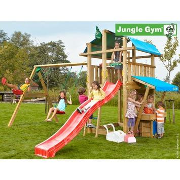 Jungle Gym Fort Speeltoestel met Glijbaan en Schommel en Winkeltje