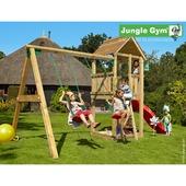 Jungle Gym Club inclusief korte glijbaan met wateraansluiting en dubbele schommel