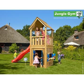 Jungle Gym Club Speeltoestel met Glijbaan en Speelhuisje