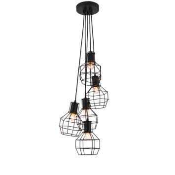 Hanglamp Miran 5-lichts zwart