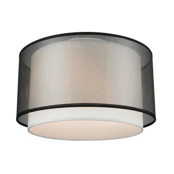 Plafondlamp Ocala zwart doorsnee 40 cm